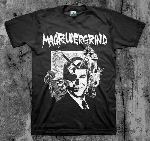 Magrudergrind- Asia Grinder on a black shirt