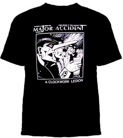 Major Accident- A Clockwork Legion on a black shirt (Sale price!)