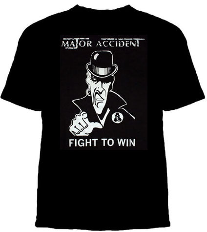 Major Accident- Fight To Win on a black shirt (Sale price!)