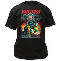 Mars Attacks- City Destruction on a black shirt