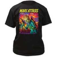 Mars Attacks- UFOs on a black shirt