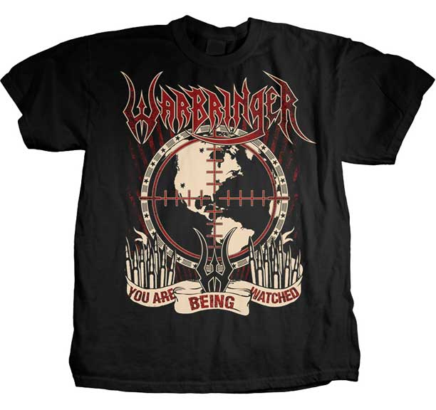 Warbringer- You Are Being Watched on a black shirt (Sale price!)