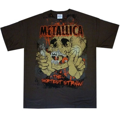Metallica- Shortest Straw on a brown shirt (Sale price!)