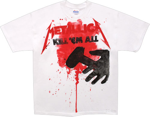 Metallica- Kill 'Em All on a white shirt (Sale price!)