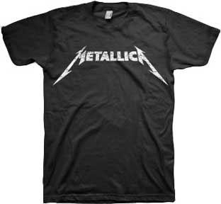 Metallica- Logo on a black shirt (Sale price!)