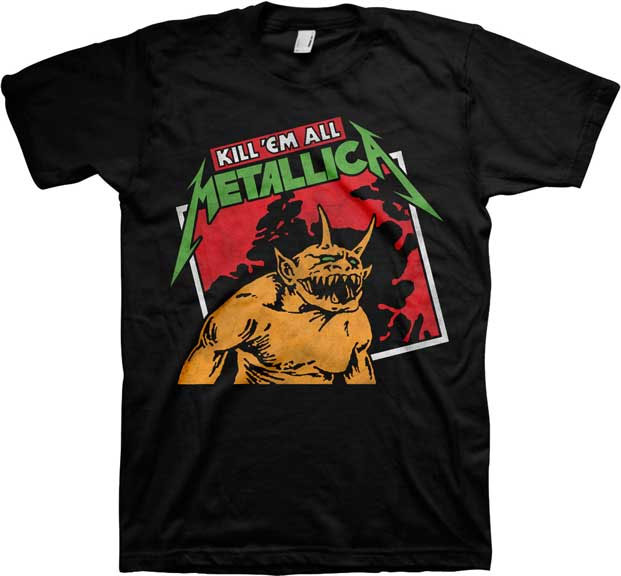 Metallica- Kill 'Em All (Tilted) on a black shirt (Sale price!)