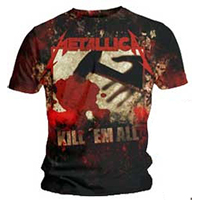 Metallica- Kill 'Em All Large Print on front & back on a black shirt (Sale price!)