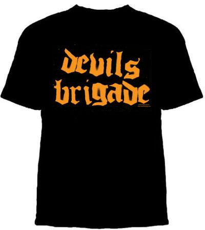 Devils Brigade- Spraypaint Logo on a black shirt (Sale price!)