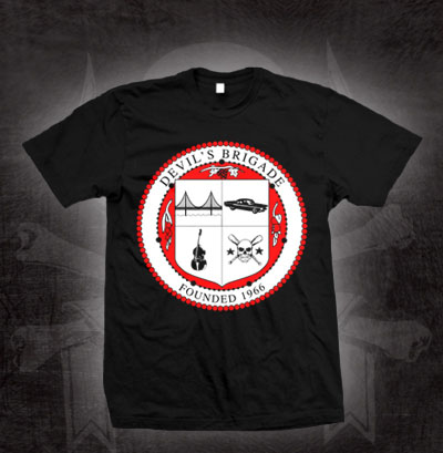 Devils Brigade- Crest on a black shirt (Sale price!)