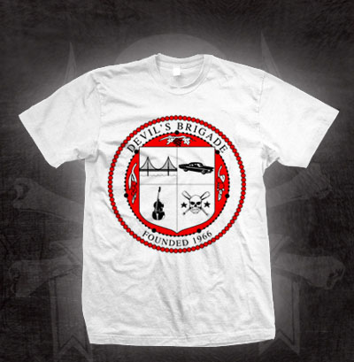 Devils Brigade- Crest on a white shirt (Sale price!)