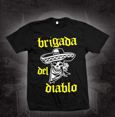 Devils Brigade- Brigada Del Diablo on a black shirt (Sale price!)