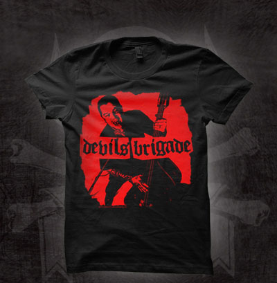 Devils Brigade- Album Cover on a black girls fitted shirt (Sale price!)