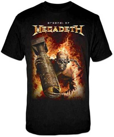 Megadeth- Arsenal on a black shirt