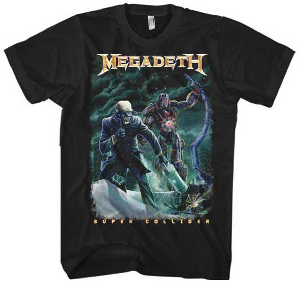 Megadeth- Super Collider on a black shirt