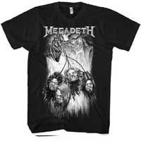 Megadeth- Heads on a black shirt