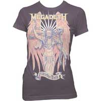 Megadeth- Liberty Or Deth on a plum girls fitted shirt