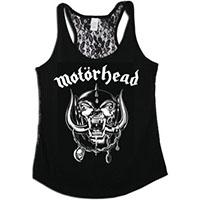 Motorhead- War Pig on a black lace back girls tank shirt