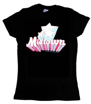 Midtown- Stars on a black girls fitted shirt (Sale price!)