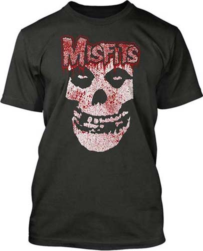 Misfits- Bloody Skull on a black shirt