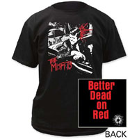 Misfits- Bullet on front, Logo on back on a black shirt