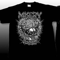 Misery- Mother Nature on front, Symbol on back on a black shirt