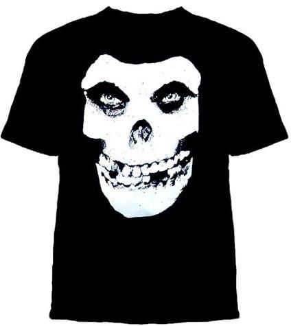 Misfits- Crimson Ghost Skull on a black shirt