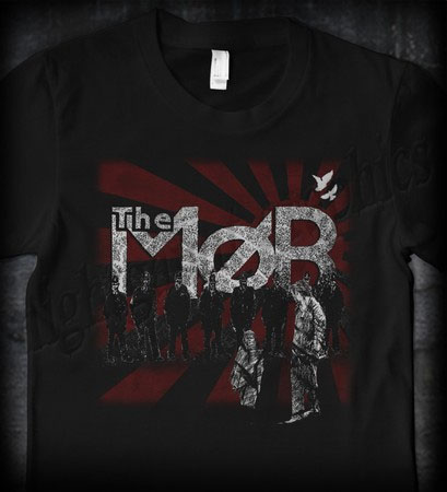 Mob- Cry Of The Morning on a black shirt (Sale price!)