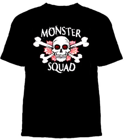 Monster Squad- Skull And Web on a black YOUTH SIZED shirt (Sale price!)