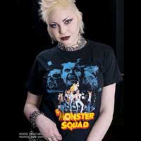 Monster Squad- Pic With Monsters on a black shirt