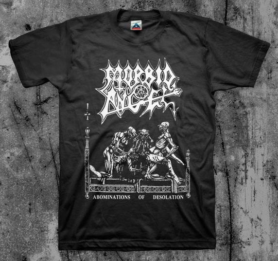 Morbid Angel- Abominations Of Desolation on a black shirt