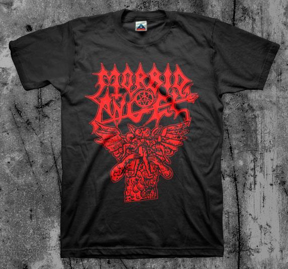Morbid Angel- Hungry Satan on a black shirt