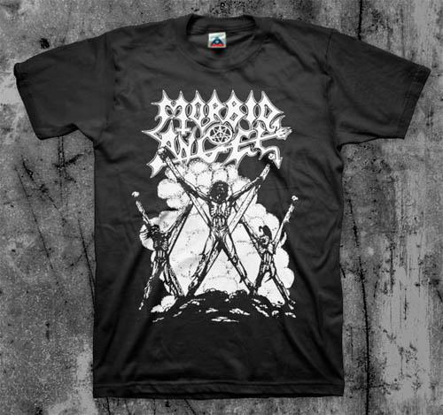 Morbid Angel- Thy Kingdom Come on a black shirt