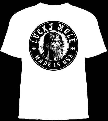 Lucky Mule Brand- Decapitated on a white shirt (Sale price!)