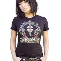 Lucky Mule Brand- Deadutante on a black girls fitted shirt (Sale price!)