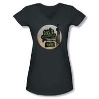 Munsters- Moonlit Address on a Charcoal Girls V-Neck Shirt - SALE sz 2X only