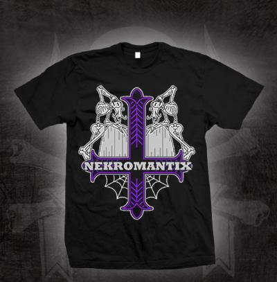 Nekromantix- Cross on a black shirt (Sale price!)