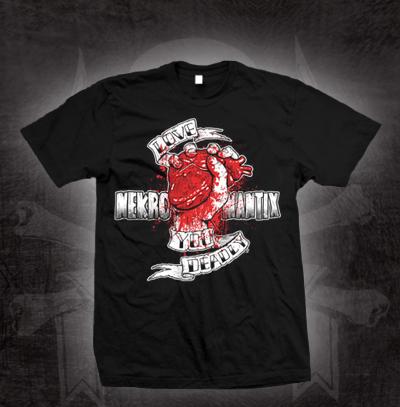 Nekromantix- Love You Deadly on a black shirt (Sale price!)
