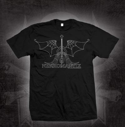 Nekromantix- Winged Coffin on a black shirt (Sale price!)