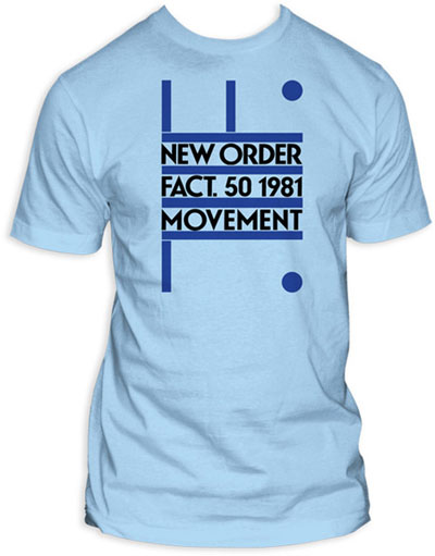 New Order- 1981 on a light blue ringspun cotton shirt