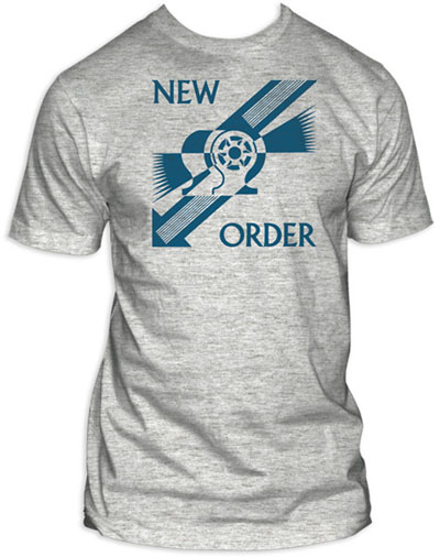 New Order- Everything's Gone Green on a grey ringspun cotton shirt