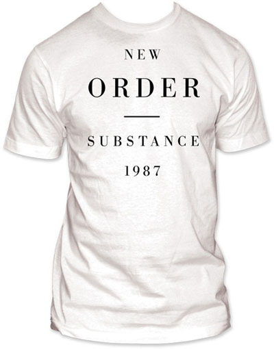 New Order- Substance on a white ringspun cotton shirt