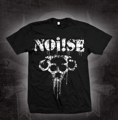 Noi!se- Brass Knuckles on a black shirt (Sale price!)