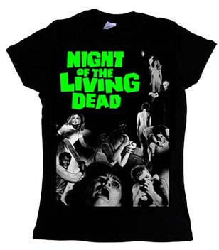 Night Of The Living Dead- Movie Poster on a black girls fitted shirt