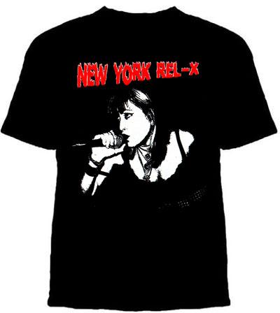 New York Rel-X- Singer on a black shirt (Sale price!)