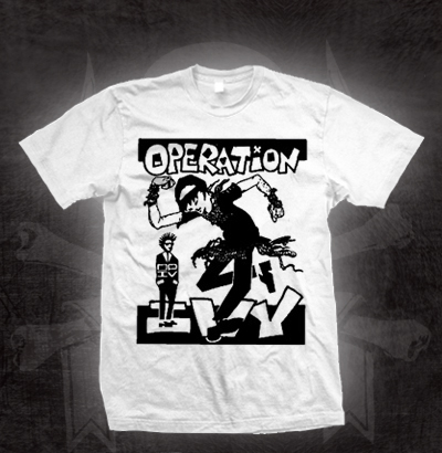 Operation Ivy- Skankin' on a white shirt (Sale price!)