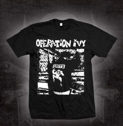 Operation Ivy- Unity on a black shirt (Sale price!)