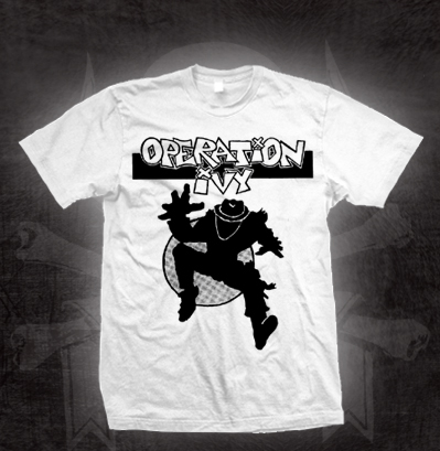 Operation Ivy- Skanking Guy on a white shirt (Sale price!)