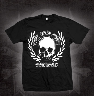 Old Firm Casuals- Laurel Skull on a black shirt (Sale price!)