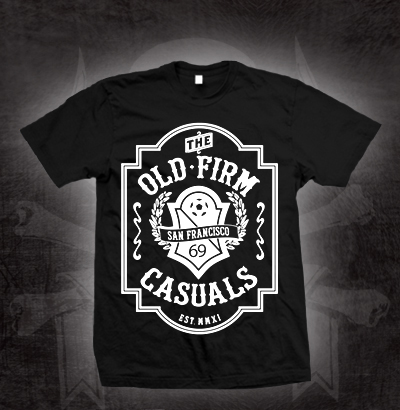 Old Firm Casuals- Crest on a black shirt