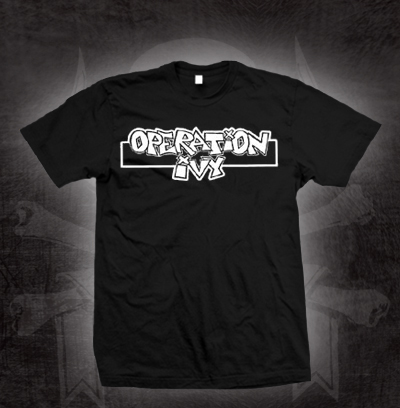 Operation Ivy- Logo on a black shirt (Sale price!)